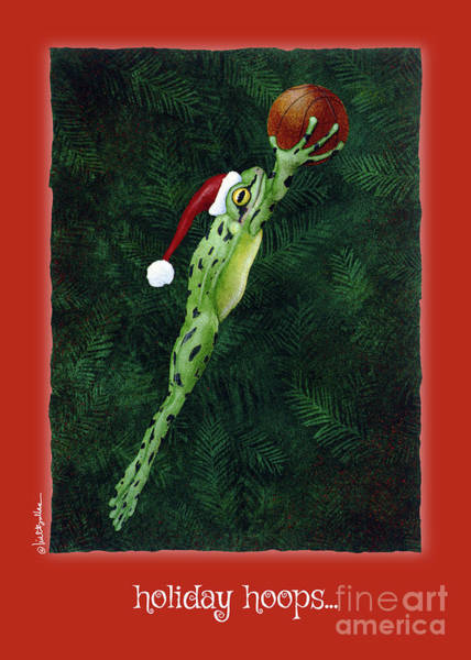 Painting - Holiday Hoops... by Will Bullas