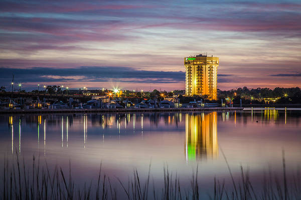 Photograph - Holiday Inn Reflects On The Ashley River Charleston Sc by Donnie Whitaker