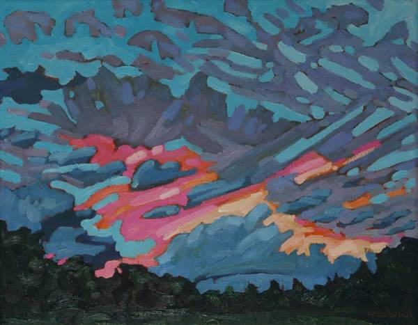 Wall Art - Painting - Holiday July Sunrise by Phil Chadwick