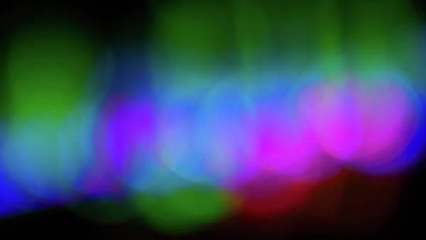 Photograph - Holiday Light Bokeh Abtsract II by SR Green