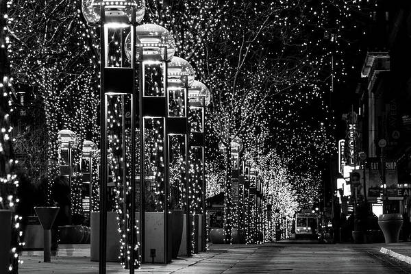 Photograph - Holiday Lights - 16th Street Mall by Stephen Holst