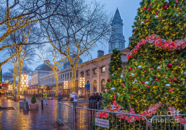 Photograph - Holiday Lights At Quincy Market by Susan Cole Kelly