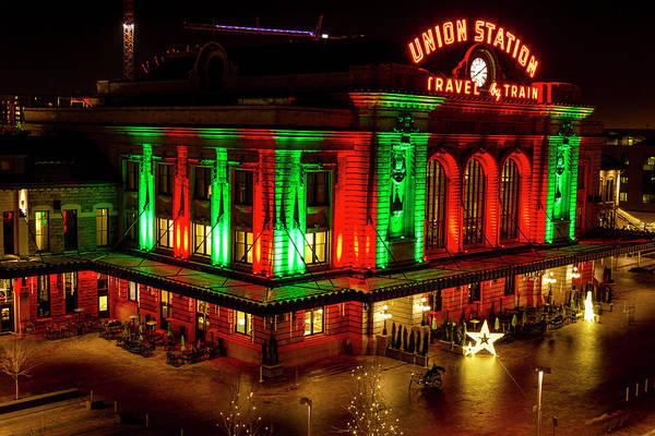 Holiday Lights At Union Station Denver Art Print