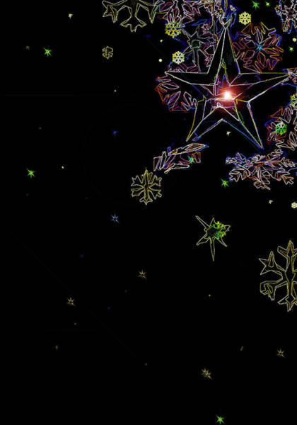 Digital Art - Holiday Lights by Gina Harrison