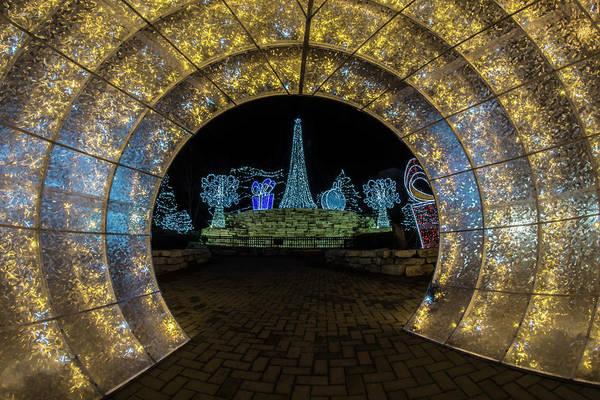 Photograph - Holiday Lights Tunnel by Sven Brogren
