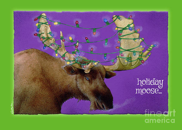 Painting - Holiday Moose... by Will Bullas