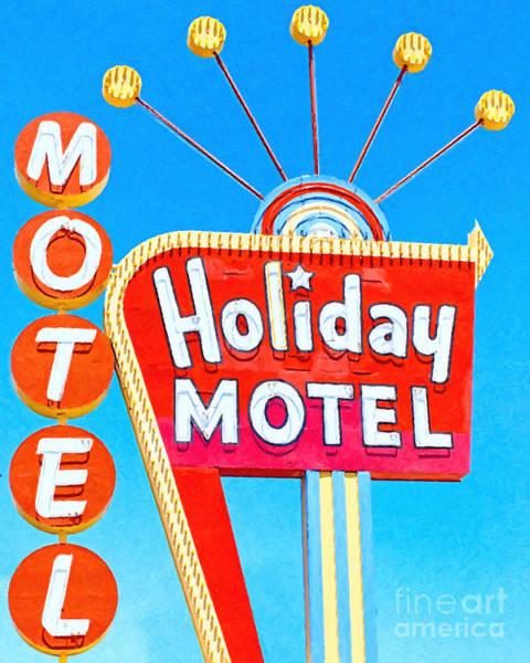 Wingsdomain Photograph - Holiday Motel Las Vegas by Wingsdomain Art and Photography