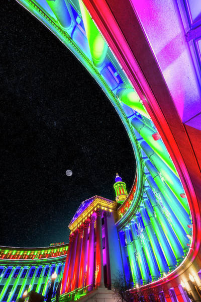 Photograph - Holiday Nights At Denver Civic Center by Darren White