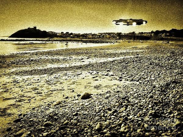 Scifi Digital Art - Holiday On A Welsh Beach By Raphael Terra by Raphael Terra