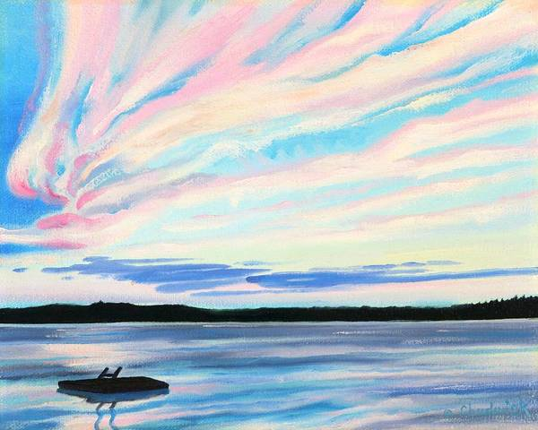 Wall Art - Painting - Holiday Sunset by Phil Chadwick