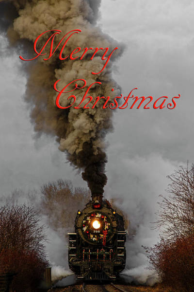 Photograph - Holiday Train Merry Christmas by Wes and Dotty Weber