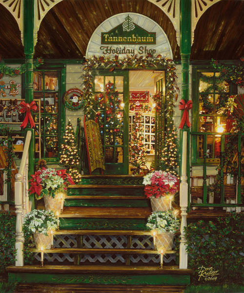 Gift Shops Painting - Holiday Treasured by Doug Kreuger