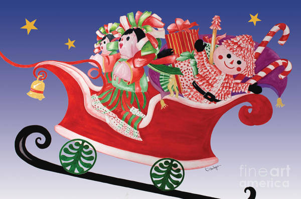 Painting - Holiday Twin Delivery by Kandyce Waltensperger