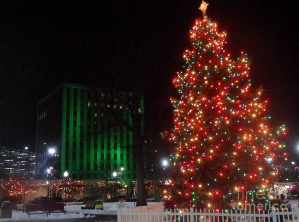 Photograph - Holidays Downtown by Christina Verdgeline