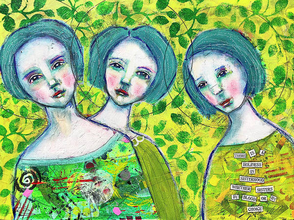 Friends Mixed Media - Holiness In Friendship by Lynn Colwell