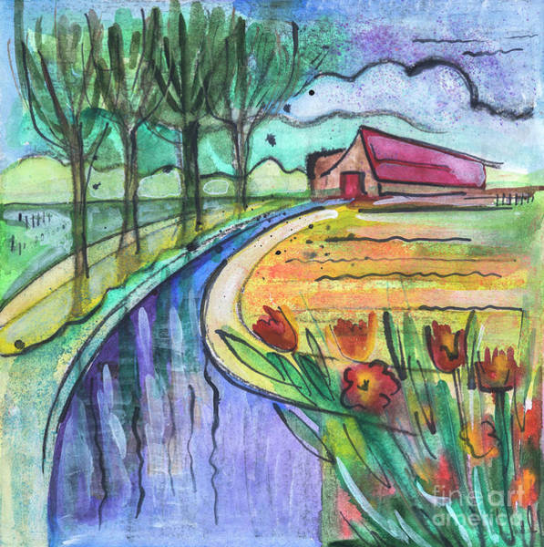 Drawing - Holland Countryside  by Ariadna De Raadt