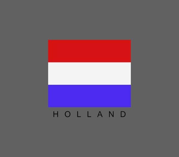 Illustration Digital Art - Holland Flag by Marco Livolsi