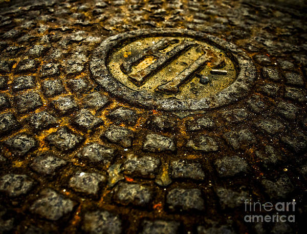 Holland Tunnel Wall Art - Photograph - Holland Tunnel Manhole by James Aiken