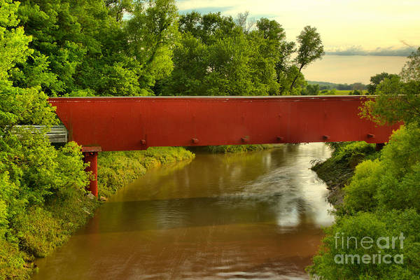 Photograph - Holliwell Bridge Over The North River by Adam Jewell