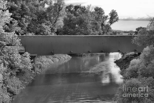 Photograph - Holliwell Bridge Over The North River Black And White by Adam Jewell