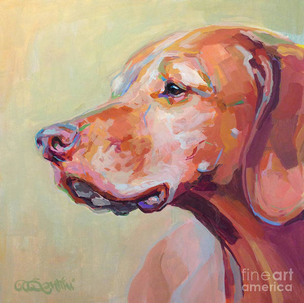 Wall Art - Painting - Hollys Heart Dog Bela by Kimberly Santini