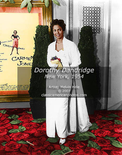Wall Art - Painting - Hollywood Art Entitled Dorothy Dandridge New York C1954 by Melvin Hale