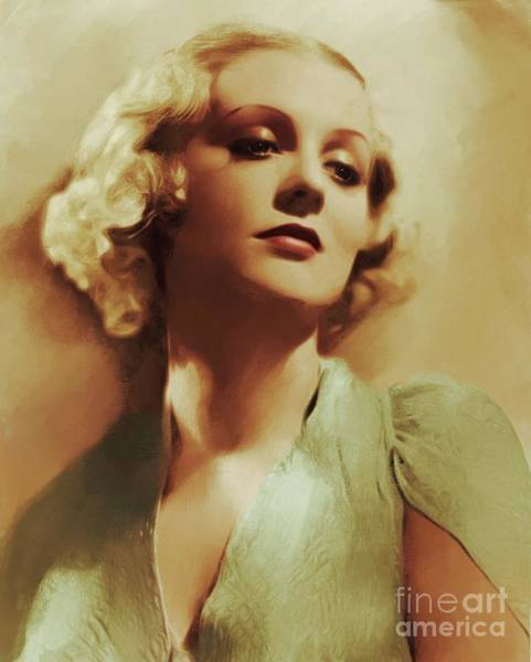 Gloria Wall Art - Painting - Hollywood Classics, Gloria Stewart, Actress by Mary Bassett
