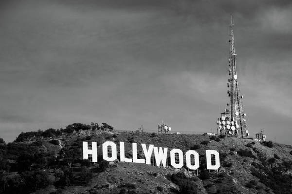 Photograph - Hollywood Hills - Los Angeles California - Black And White by Gregory Ballos