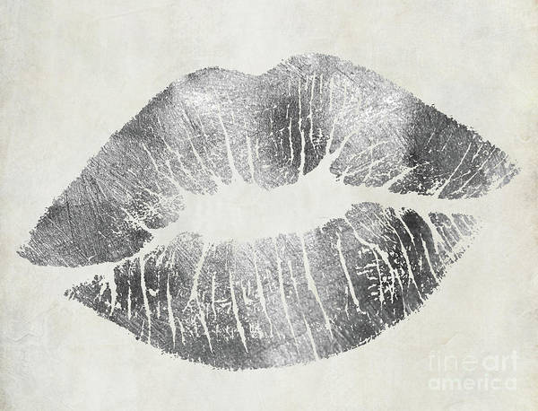Wall Art - Painting - Hollywood Kiss Silver by Mindy Sommers