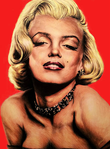 Norma Jeane Mortenson Painting - Hollywood Legend Marilyn by Andrew Read