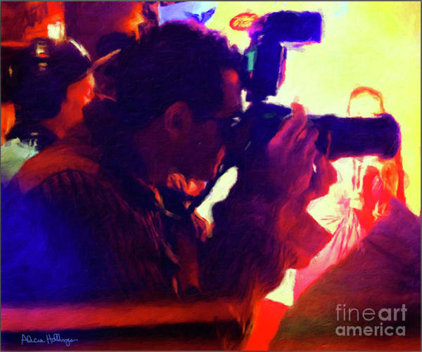 Digital Art - Hollywood Paparazzi by Alicia Hollinger