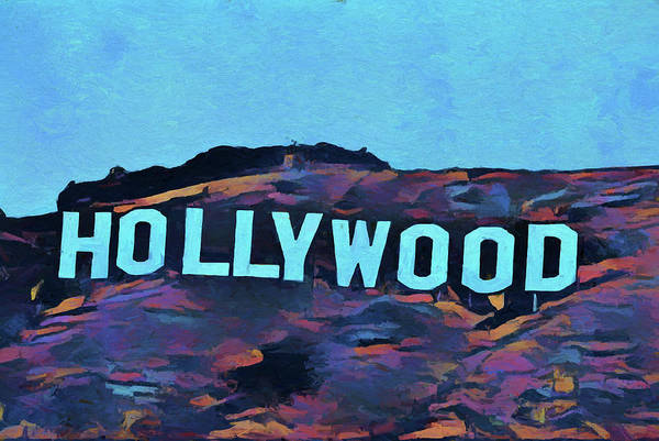 Pop Culture Mixed Media - Hollywood Pop Art Sign by Dan Sproul