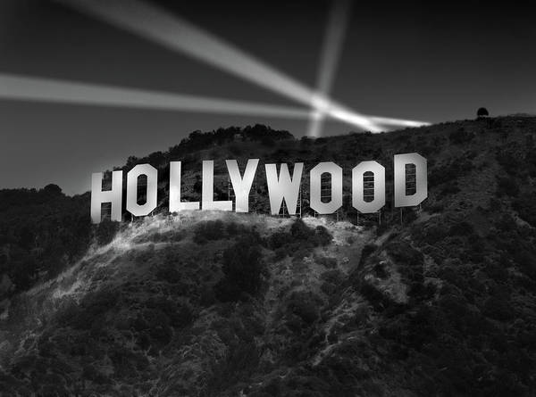 Richard Photograph - Hollywood Sign At Night by Richard Lund