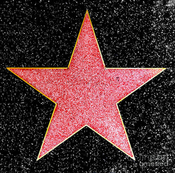 Hollywood Walk Of Fame Star Art Print