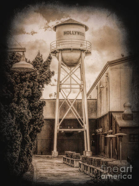 Hollywood Water Tower 2 Art Print