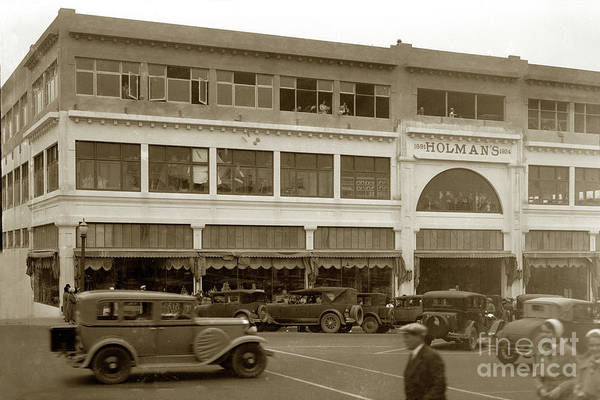 Photograph - Holman Department Store, Lighthouse Avenue Circa 1930 by California Views Archives Mr Pat Hathaway Archives