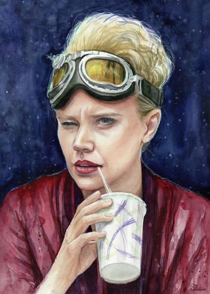Goggles Wall Art - Painting - Holtzmann Ghostbusters Portrait by Olga Shvartsur