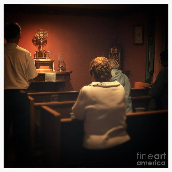 Photograph - Holy Adoration Altar by Frank J Casella