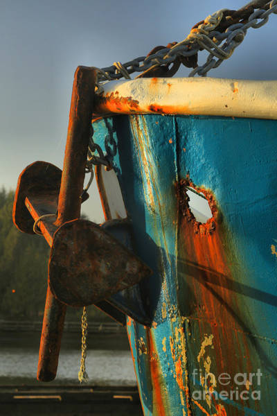 Rusty Chain Wall Art - Photograph - Holy Anchor by Adam Jewell