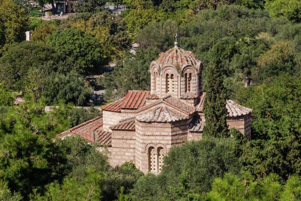 Photograph - Holy Apostles Church Ancient Agora From Acropolis Athens by Jebulon