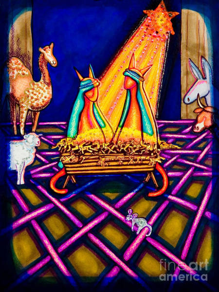 Holy Christmas Kats Art Print