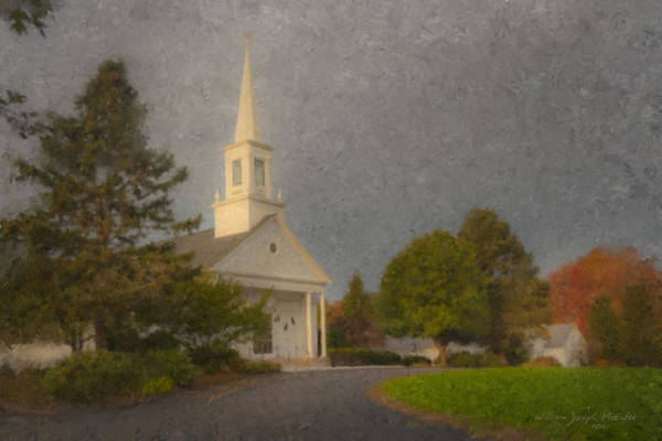 Painting - Holy Cross Church Easton Ma by Bill McEntee