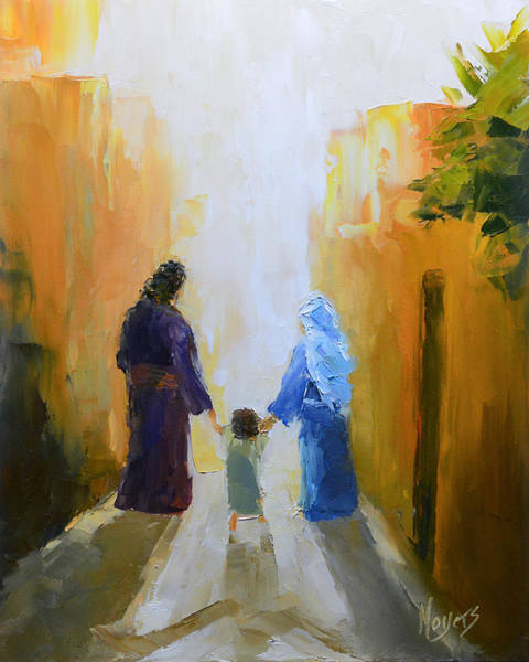 Nazareth Wall Art - Painting - Holy Family by Mike Moyers