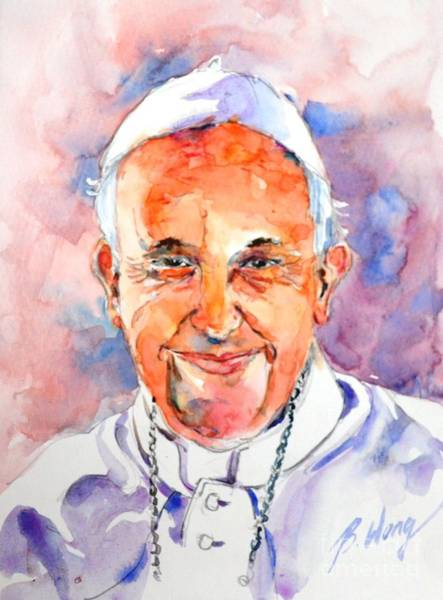 Painting - Holy Father #1 by Betty M M Wong