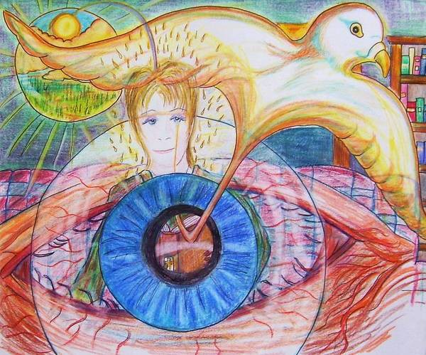 Holy Ghost Drawing - Holy Ghost Shining Eyes by Richard  Hubal