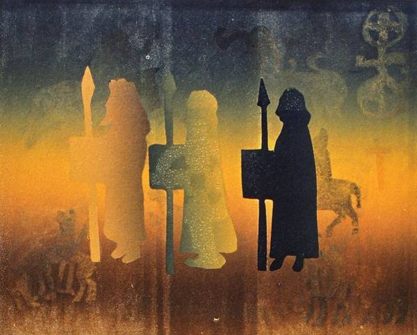 Three Kings Painting - Holy Ground by Gloria Wallington