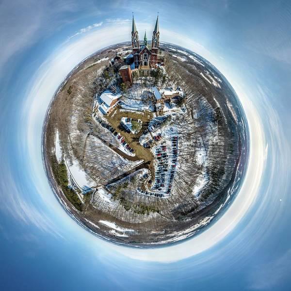 Photograph - Holy Hill Little Planet by Randy Scherkenbach