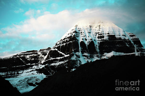 Wall Art - Photograph - Holy Kailas East Slop Himalayas Tibet Yantra.lv by Raimond Klavins