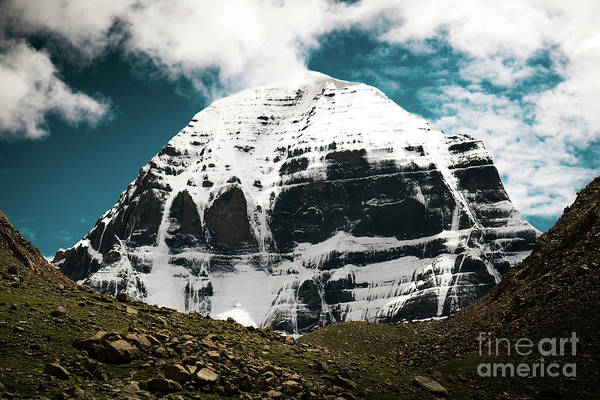 Wall Art - Photograph - Holy Kailas North Slop Himalayas Tibet Yantra.lv by Raimond Klavins