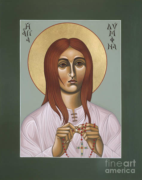 Painting - Holy Martyr St Dymphna Of Ireland 086 by William Hart McNichols